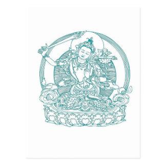 はすの花のアジア未婚のモデル ポストカード