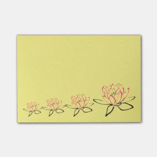 はすの花のスケッチ ポストイット