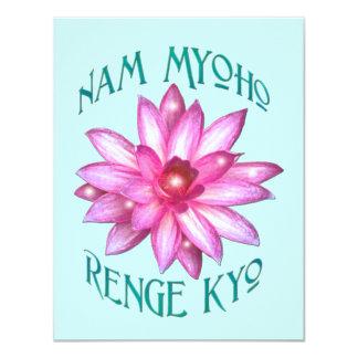 はすの花のデザインのNam Myoho Renge Kyo カード
