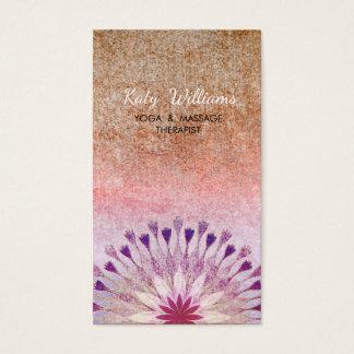 はすの花のヨガのインストラクターの黙想のホリスティック 名刺