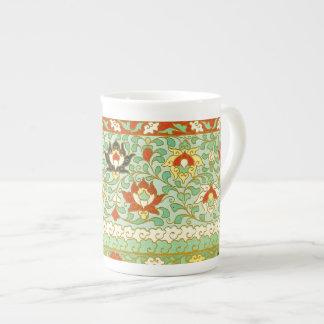 はすの花の中国人のデザイン ボーンチャイナカップ