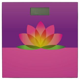 はすの花の名前入りな体重計 体重計