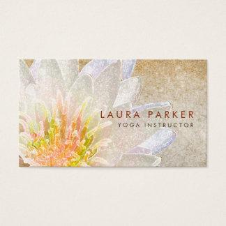 はすの花の水彩画の治療の黙想のヨガ 名刺