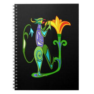 はすの花の螺線形ノートとのエジプトの芸術 ノートブック