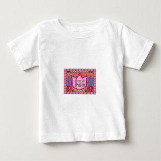はすの花: 直観的な芸術-真珠、宝石 ベビーTシャツ