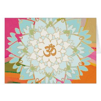 はす曼荼羅の挨拶状 グリーティングカード