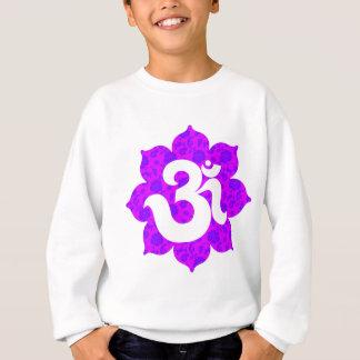 はす紫色のピンクのヨガOm スウェットシャツ