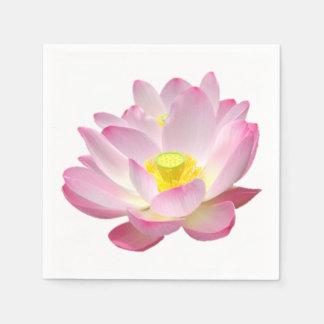 はす花だけ + あなたの文字及びアイディア スタンダードカクテルナプキン