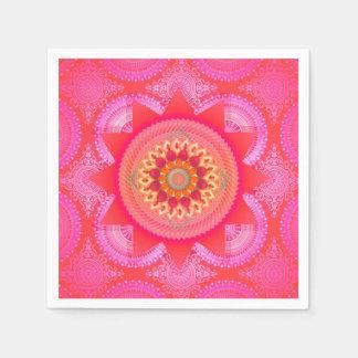 はす開花のピンクの曼荼羅ID130 スタンダードカクテルナプキン