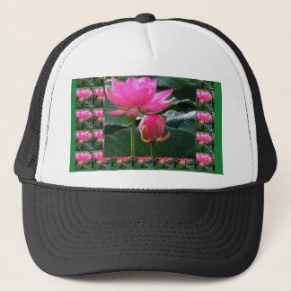 はす: チャクラのローズピンクの緑の庭 キャップ