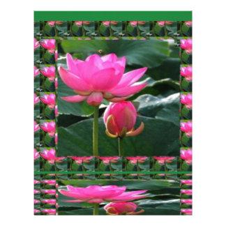はす: チャクラのローズピンクの緑の庭 レターヘッド