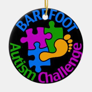 はだしの自閉症の挑戦オーナメント セラミックオーナメント