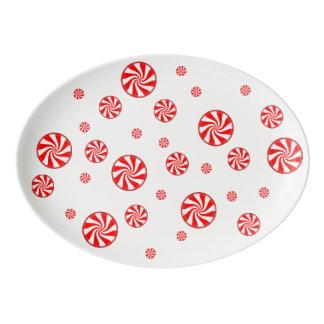 はっか菓子の休日の配膳盆 磁器大皿