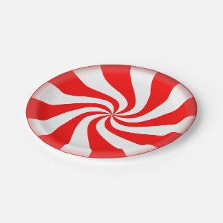 はっか菓子の使い捨て可能な休日の紙皿 ペーパープレート