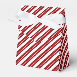 はっか菓子の杖のストライプのな好意箱 フェイバーボックス