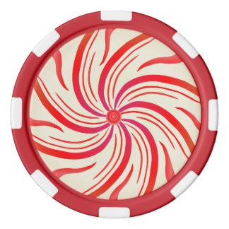 はっか菓子の渦巻 ポーカーチップ