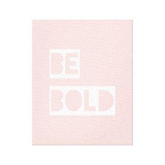 はっきりしたが-赤面のピンクの陽性の単語のキャンバスの芸術あって下さい キャンバスプリント