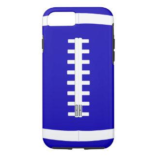はっきりしたでカスタムなチーム色及び手紙のフットボール選手 iPhone 7ケース