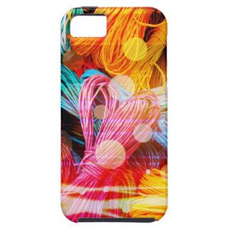 はっきりしたでカラフルなヤーンの糸および光ビーム iPhone SE/5/5s ケース