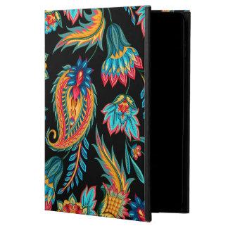 はっきりしたでカラフルな水彩画のヴィンテージの花柄のペイズリー POWIS iPad AIR 2 ケース