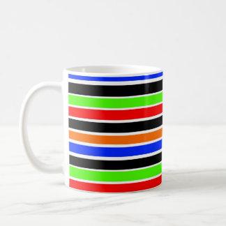 はっきりしたでストライプなマグ コーヒーマグカップ