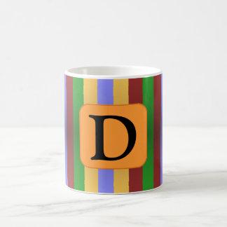 はっきりしたでストライプな手紙のマグ コーヒーマグカップ
