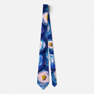 はっきりしたで明るくカラフルで抽象的な水彩画のネクタイ ネクタイ
