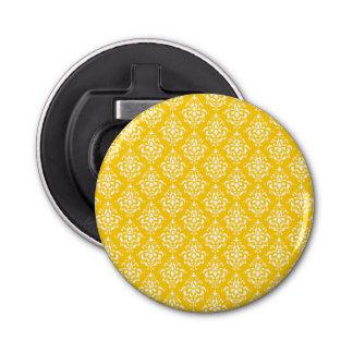 はっきりしたで明るく黄色いヴィンテージのダマスク織パターン1 栓抜き