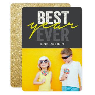 はっきりしたで最も最高のな年の休日の新年の写真カード カード