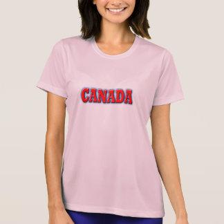 はっきりしたで赤いレタリングのカナダ Tシャツ