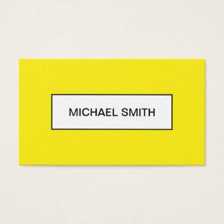 はっきりしたで黄色い最小主義の粋な名刺 名刺
