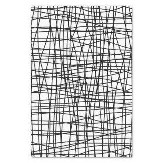はっきりしたで黒く及び白い走り書きの芸術のティッシュペーパー 薄葉紙