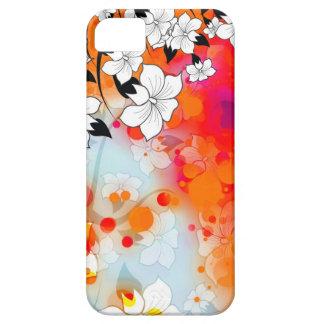 はっきりしたで、クールで赤く夢みるような花柄の抽象芸術 iPhone SE/5/5s ケース