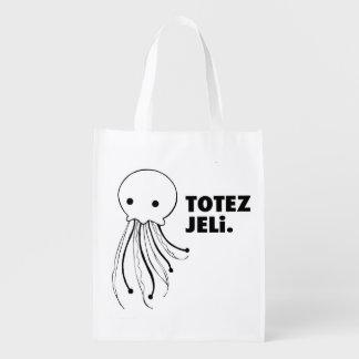 """はっきりしたなどこでもバッグ- """"戦闘状況表示板JELi""""のくらげのバッグ エコバッグ"""