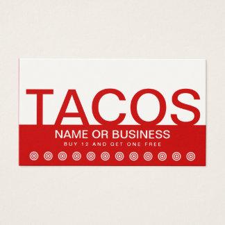 はっきりしたなタコスの顧客のロイヤリティカード 名刺