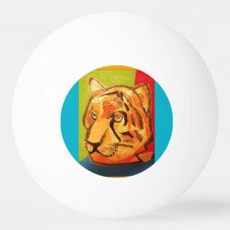 はっきりしたなトラが付いている3つの星のピンポン球 卓球ボール