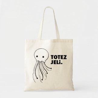 """はっきりしたなトートバック- """"TOTEZ JELi""""のくらげのデザイン トートバッグ"""