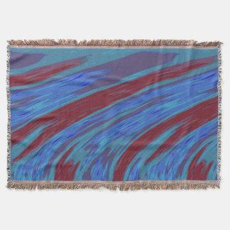 はっきりしたなモダンの抽象芸術の紫系統 スローブランケット
