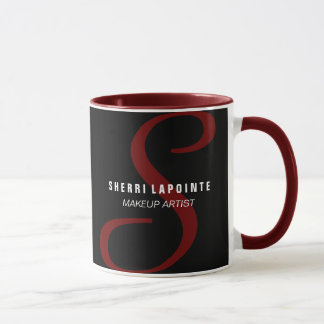 はっきりしたなモノグラムのコーヒー・マグ マグカップ