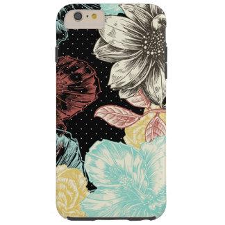 はっきりしたな刻まれた花柄 TOUGH iPhone 6 PLUS ケース