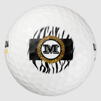 はっきりしたな及び洗練された野生の生命金ゴールドの黒及び白 ゴルフボール