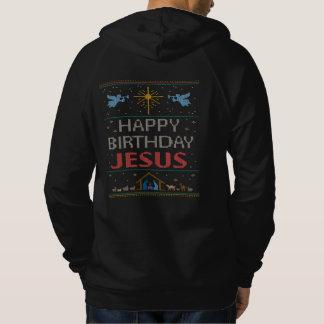 はっきりしたな宗教醜いクリスマスのセーター色イエス・キリスト パーカ