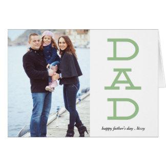 はっきりしたな手紙のパパの父の日の写真の挨拶状 グリーティングカード