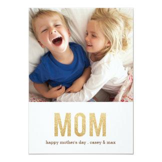 はっきりしたな手紙の母の日の写真カード カード