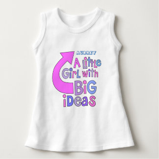 はっきりしたな明るいおもしろいのカラフルな文字 の「大きいアイディアのデザイン ドレス