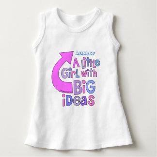 はっきりしたな明るいカラフルな文字 の「大きいアイディアのデザイン ドレス