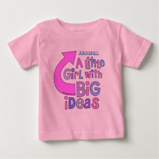 はっきりしたな明るいカラフルな文字|の「大きいアイディアのデザイン ベビーTシャツ