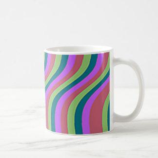はっきりしたな波状は縞で飾ります コーヒーマグカップ
