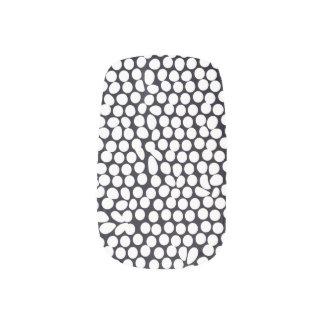 はっきりしたな白黒幾何学的 ネイルアート