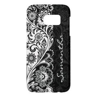 はっきりしたな白黒花柄Case mate Samsung Galaxy S7 ケース